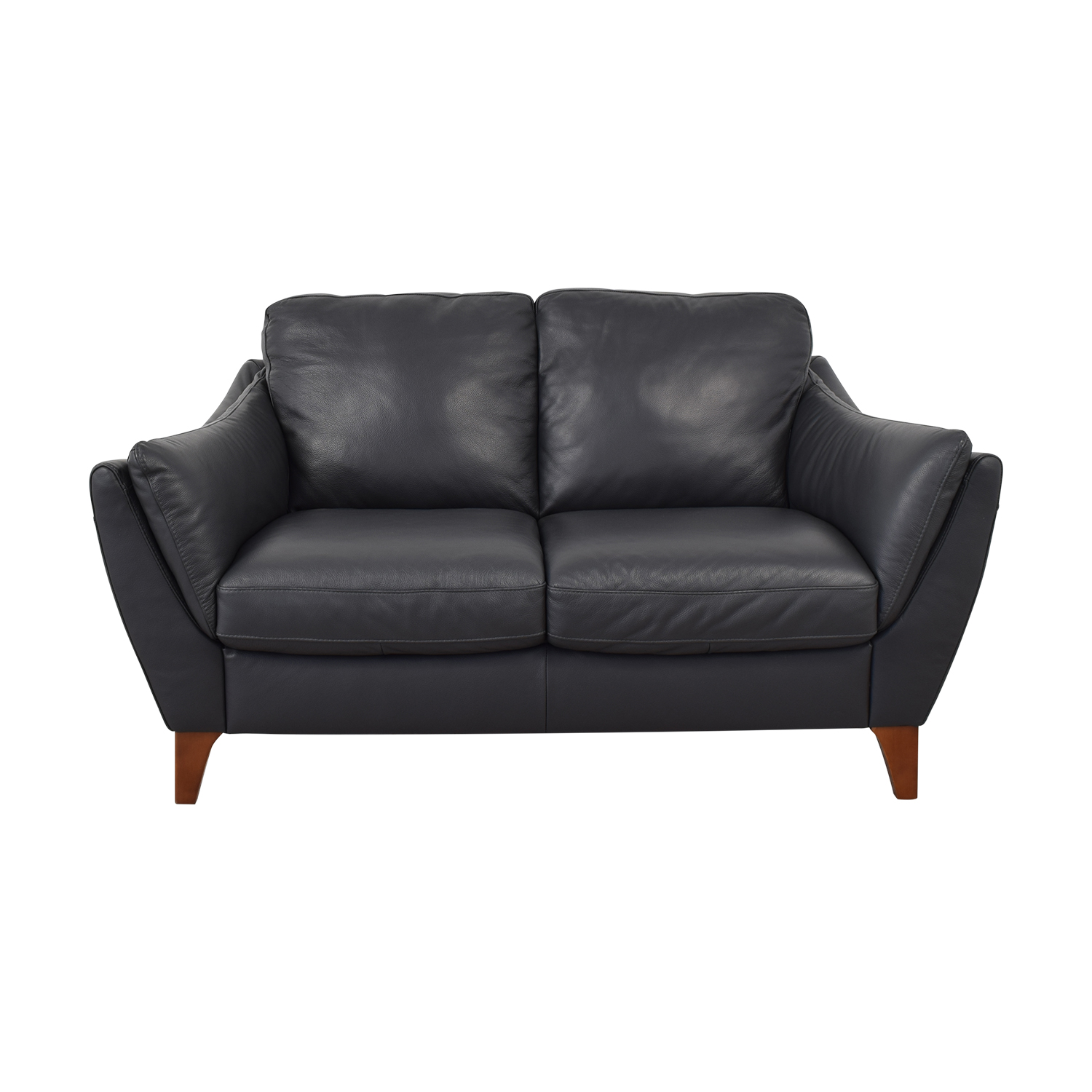 Raymour & Flanigan Raymour & Flanigan Greccio Leather Loveseat Sofas