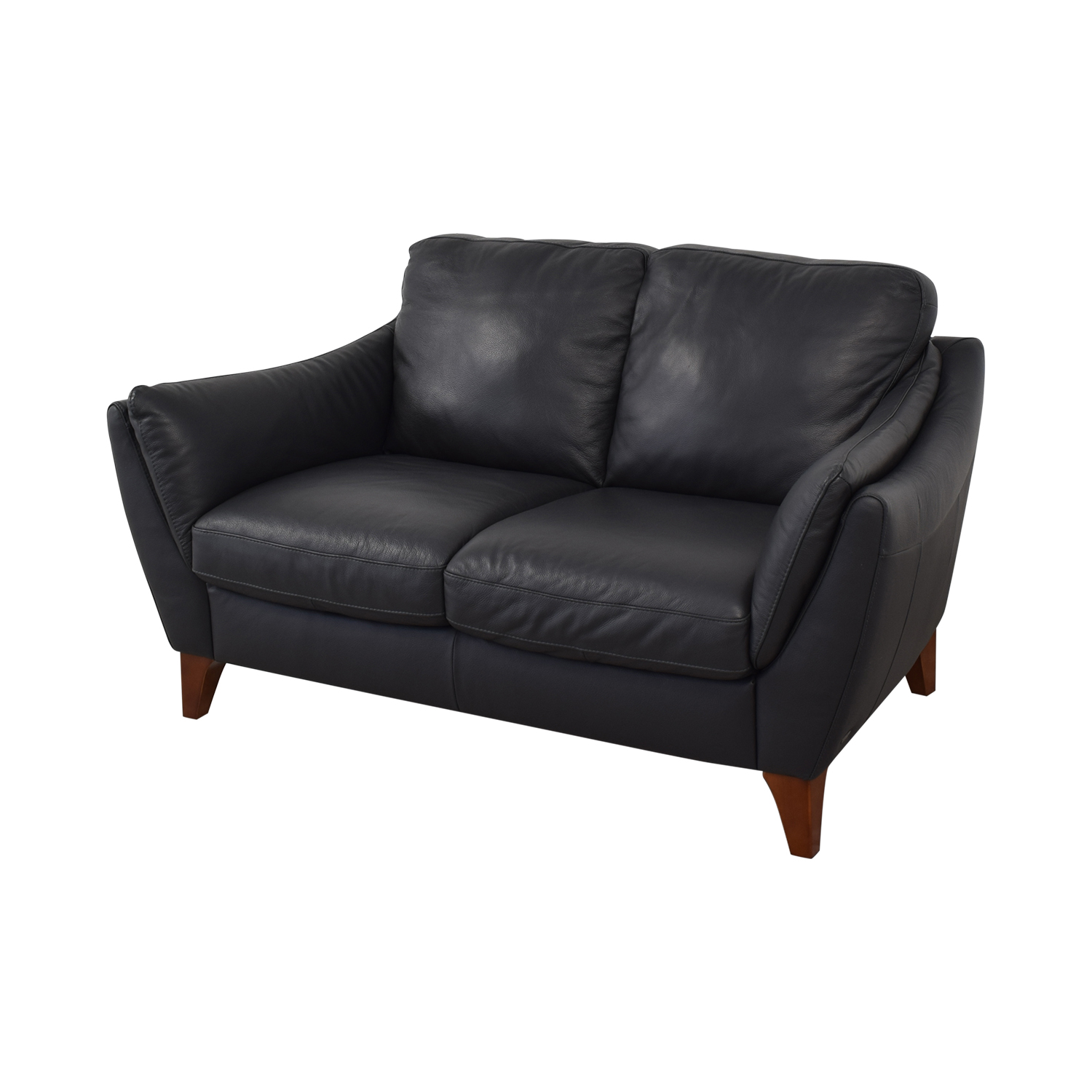 Raymour & Flanigan Raymour & Flanigan Greccio Leather Loveseat on sale