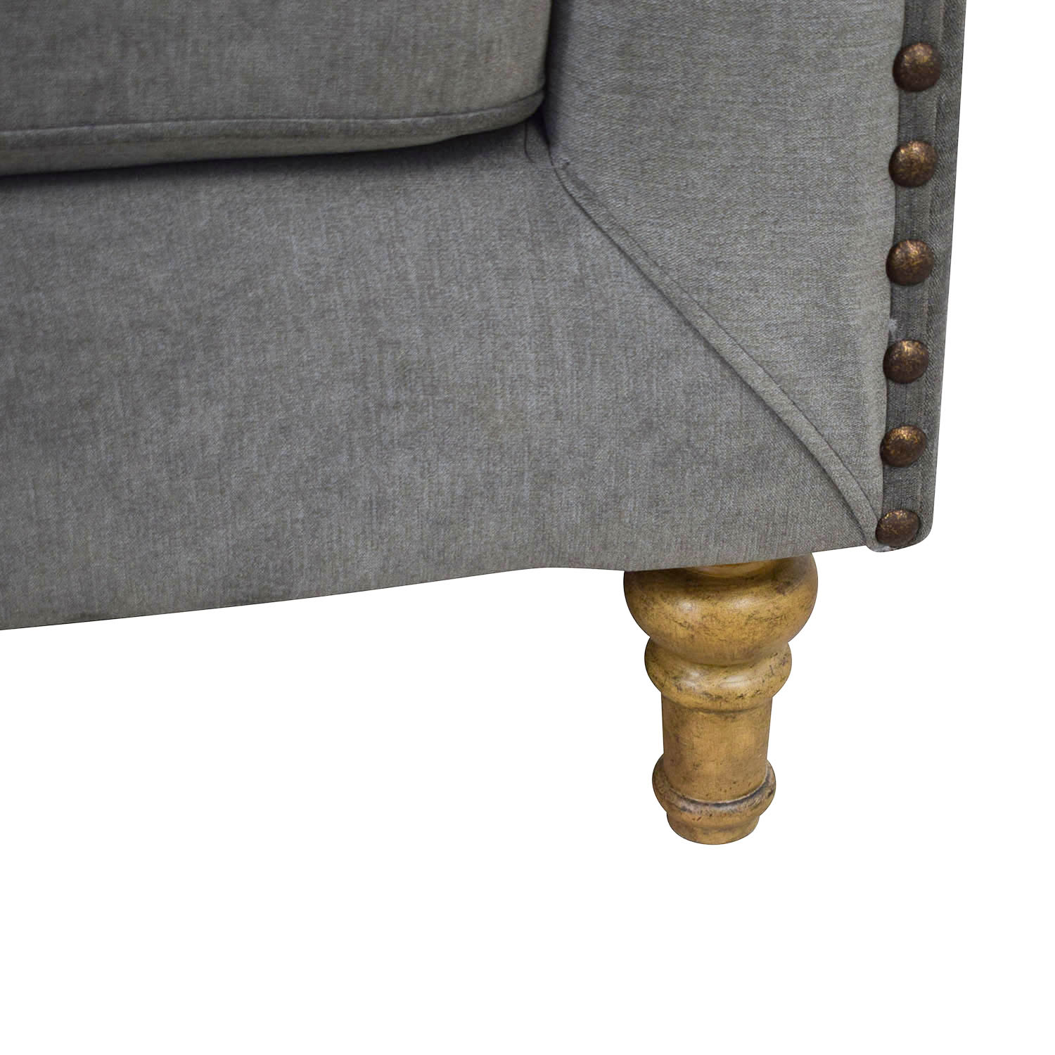 shop Acme Grey Loveseat Acme Loveseats