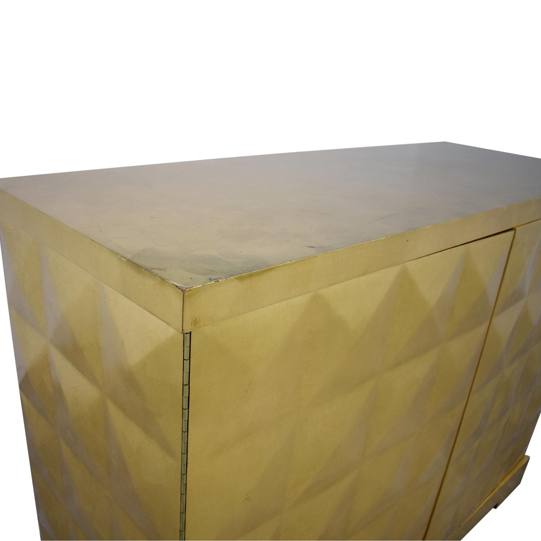 Baker Furniture Barbara Barry for Baker Furniture Gold Leaf Cabinet Cabinets & Sideboards