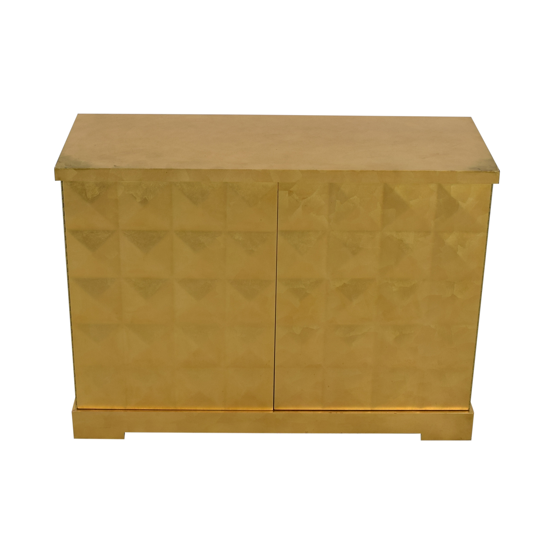 buy Barbara Barry for Baker Furniture Gold Leaf Cabinet Baker Furniture
