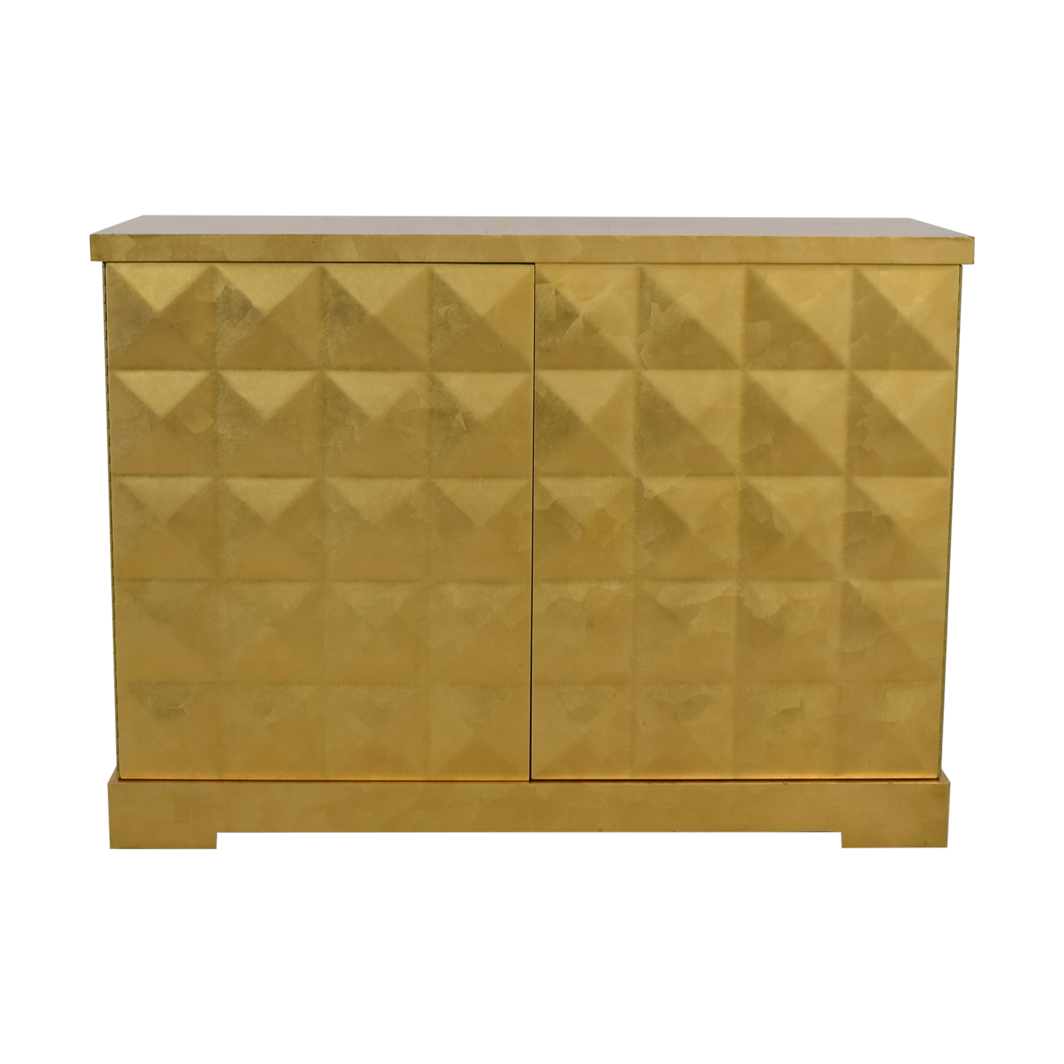 Barbara Barry for Baker Furniture Gold Leaf Cabinet / Storage
