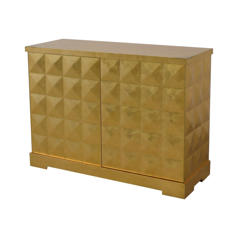 buy Barbara Barry for Baker Furniture Gold Leaf Cabinet Baker Furniture Storage