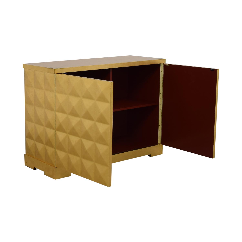 shop Barbara Barry for Baker Furniture Gold Leaf Cabinet Baker Furniture