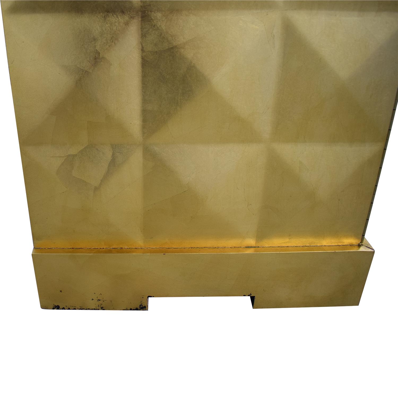 shop Barbara Barry for Baker Furniture Gold Leaf Cabinet Baker Furniture Storage