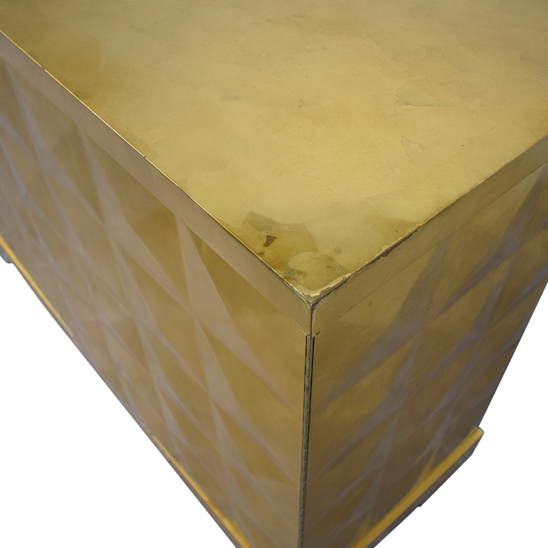 buy Barbara Barry for Baker Furniture Gold Leaf Cabinet Baker Furniture Cabinets & Sideboards