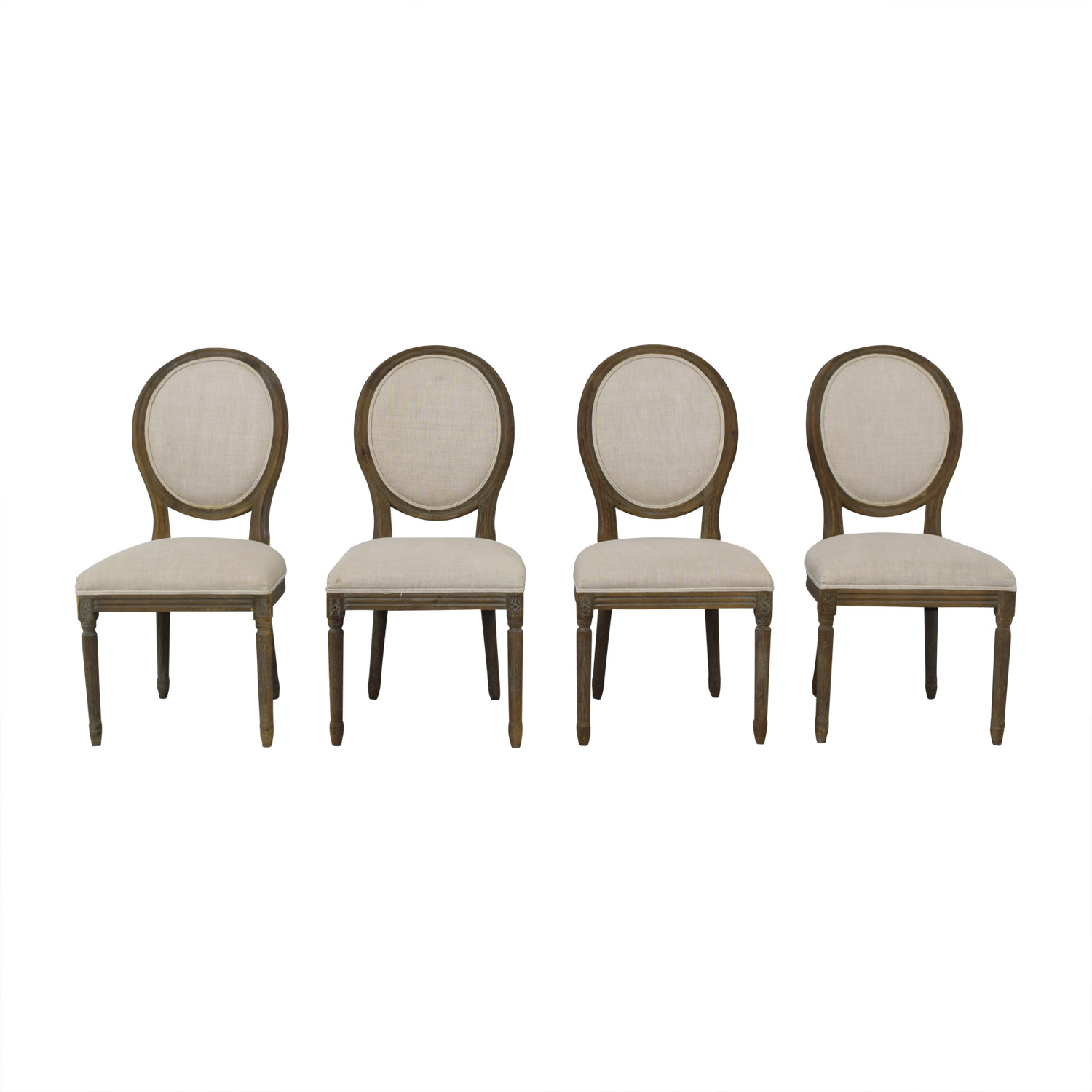 Restoration Hardware Restoration Hardware Vintage French Round Fabric Side Chairs