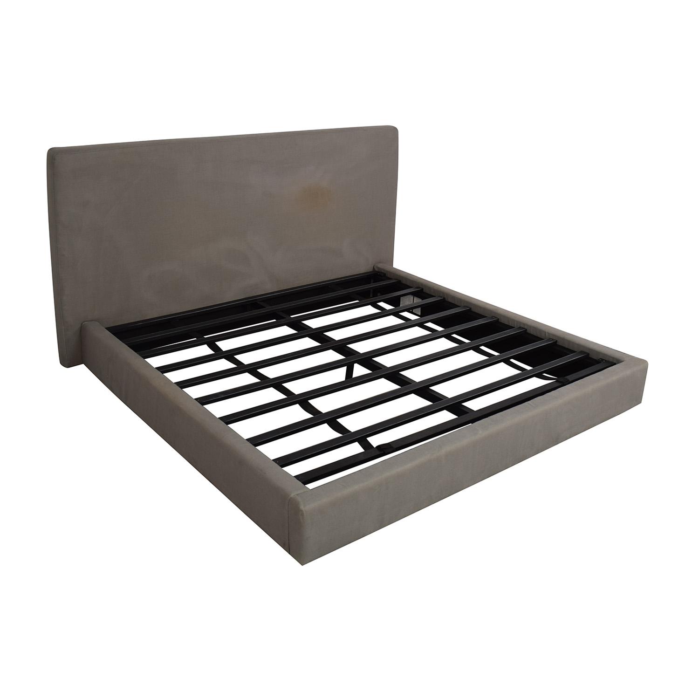 Restoration Hardware Restoration Hardware Sullivan Fabric Platform King Bed Beds