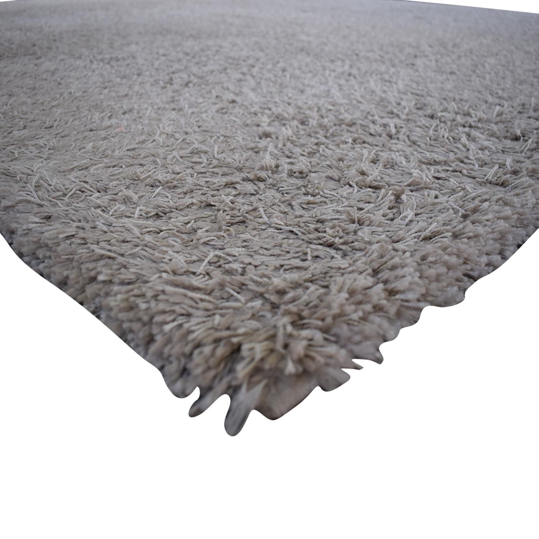 ABC Carpet & Home ABC Carpet & Home Shag Cream Rug second hand