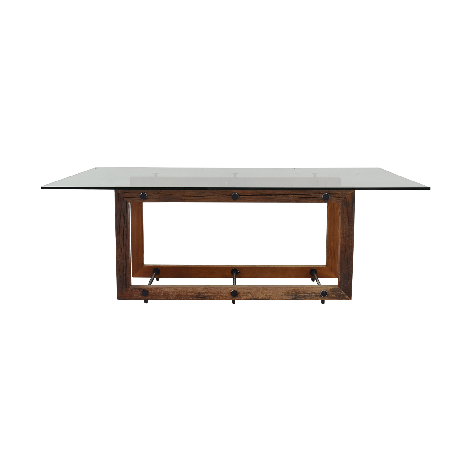 ABC Carpet & Home ABC Carpet & Home Glass Dining Table on sale