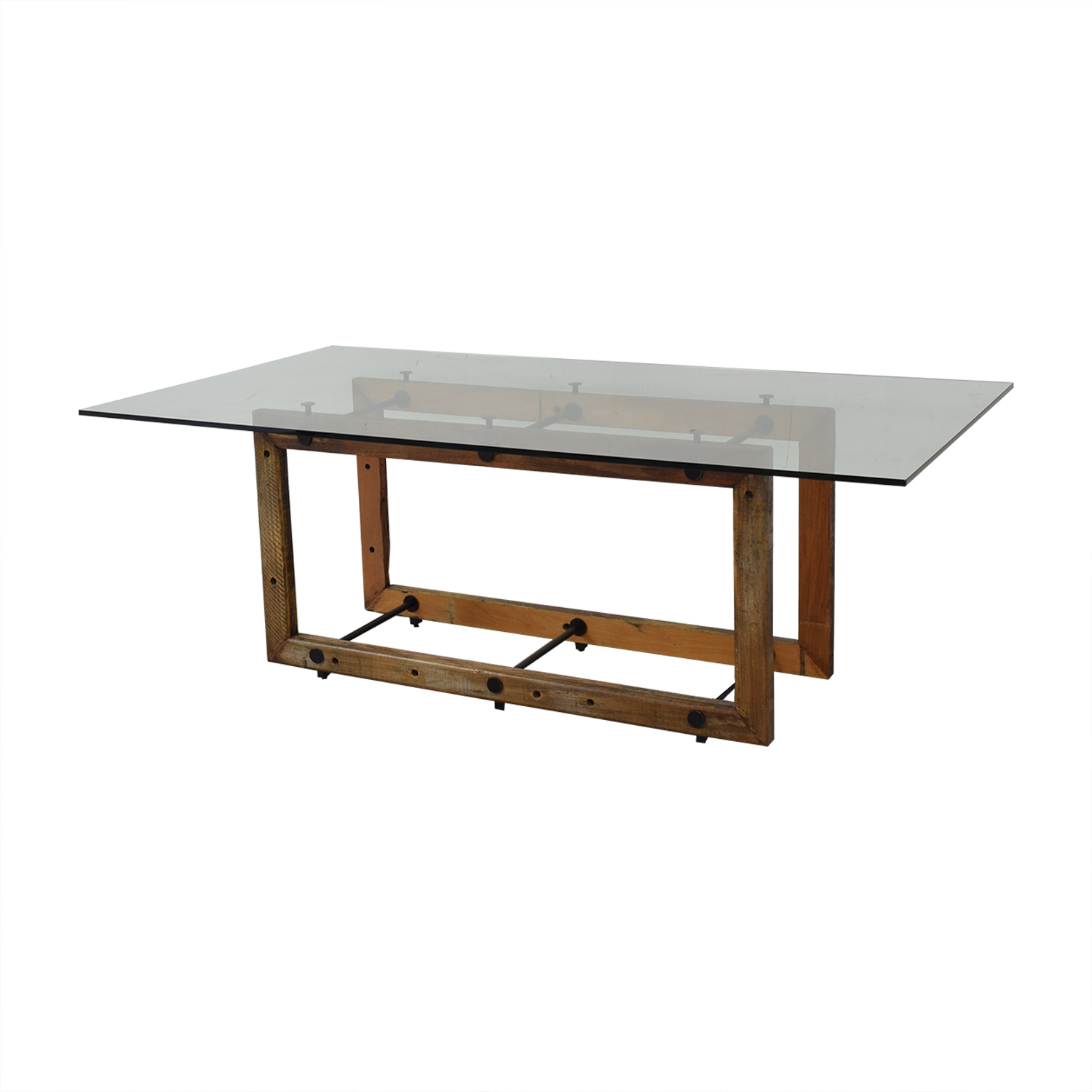 ABC Carpet & Home ABC Carpet & Home Teddy Glass Dining Table for sale