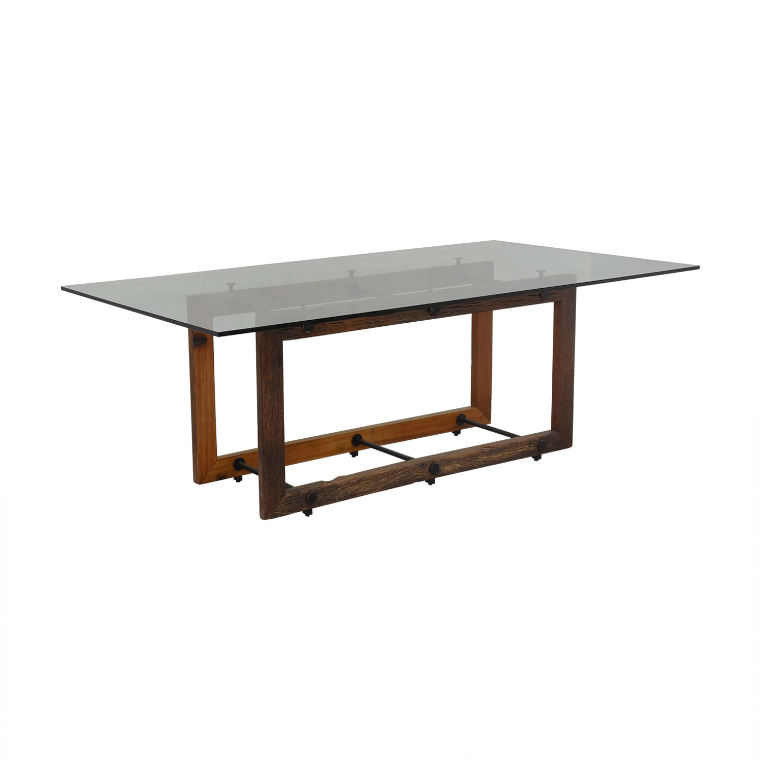 ABC Carpet & Home ABC Carpet & Home Glass Dining Table used