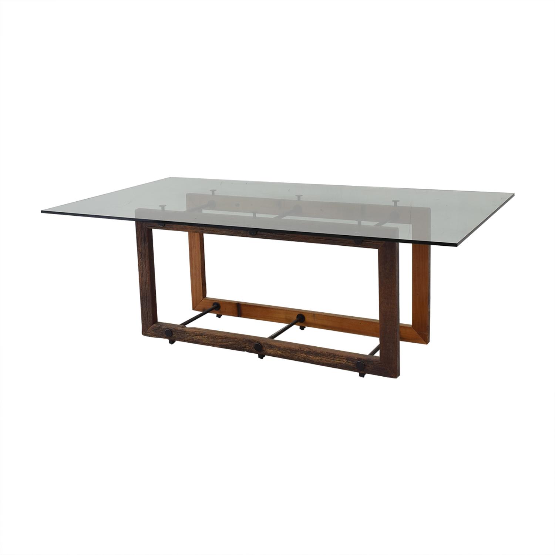 ABC Carpet & Home Glass Dining Table ABC Carpet & Home