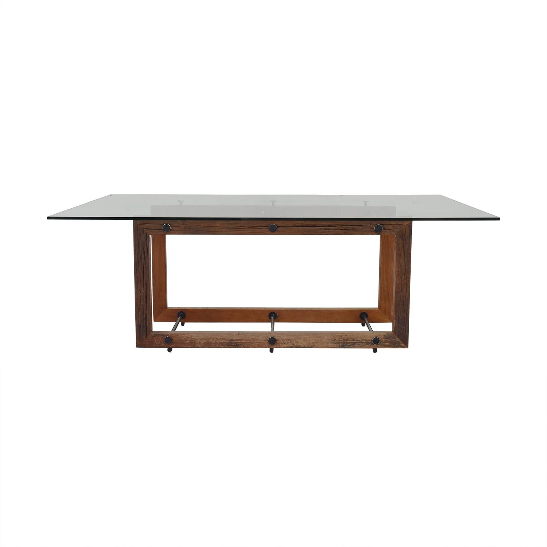 ABC Carpet & Home ABC Carpet & Home Glass Dining Table nj