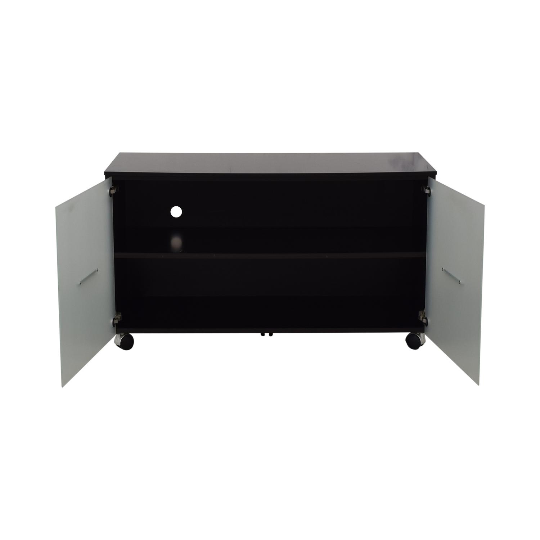 CB2 CB2 Cabinet Media Console black /glass