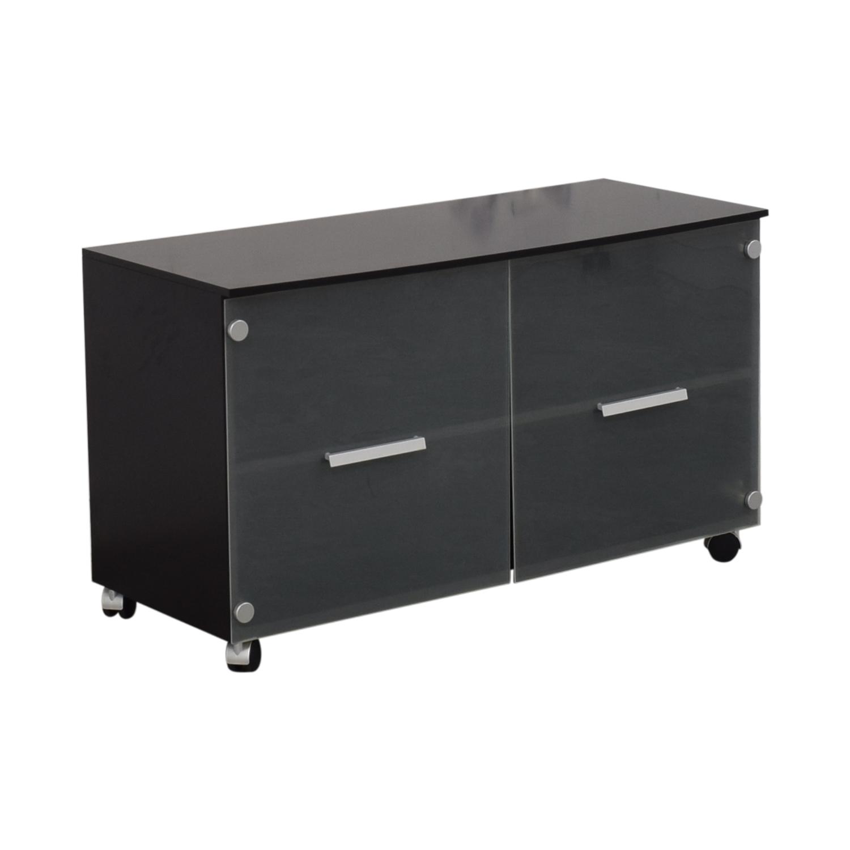 CB2 CB2 Cabinet Media Console dimensions