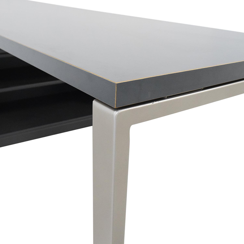 Herman Miller Herman Miller L-Shaped Workdesk and Credenza Tables