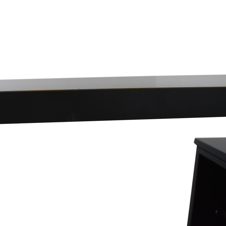 shop Herman Miller L-Shaped Workdesk and Credenza Herman Miller Tables