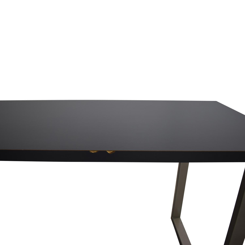Herman Miller Herman Miller L Shaped Workdesk and Credenza Tables
