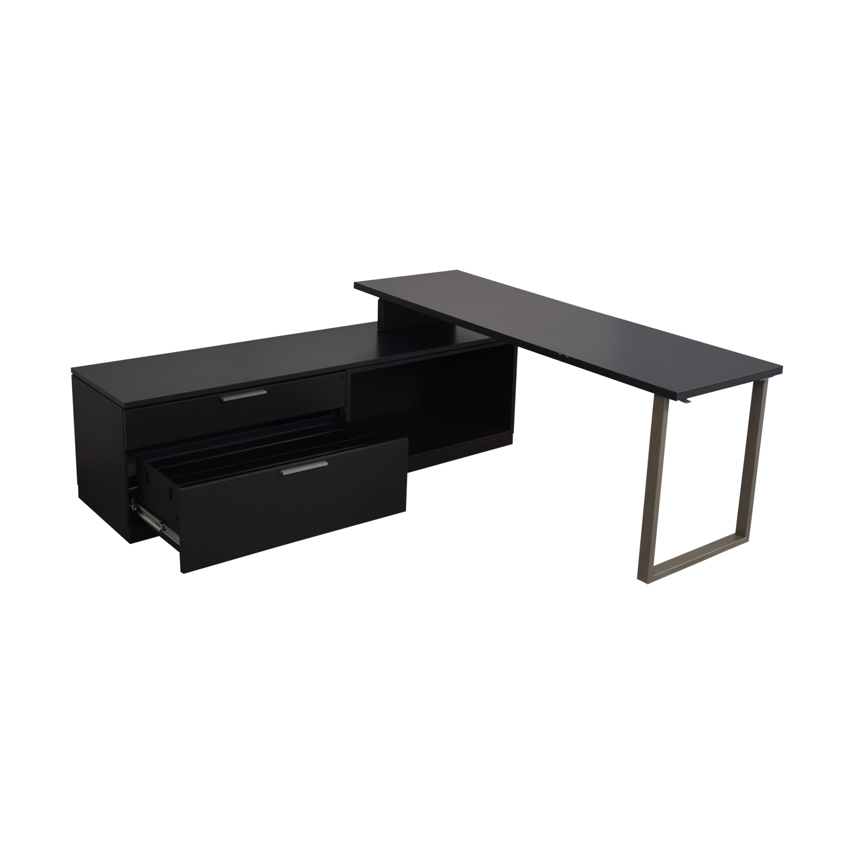 Herman Miller L Shaped Workdesk and Credenza / Home Office Desks