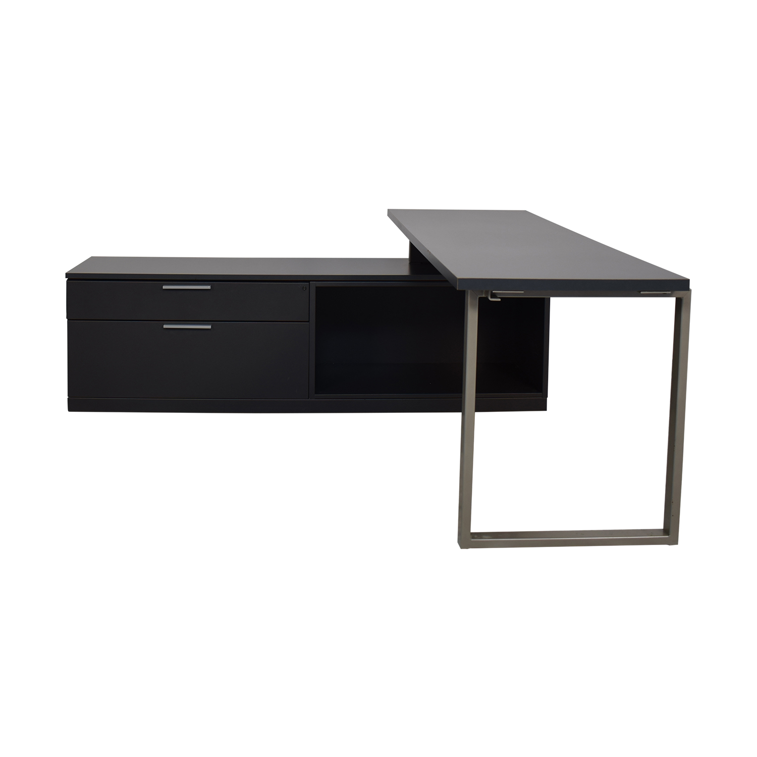 Herman Miller Herman Miller L Shaped Workdesk and Credenza second hand