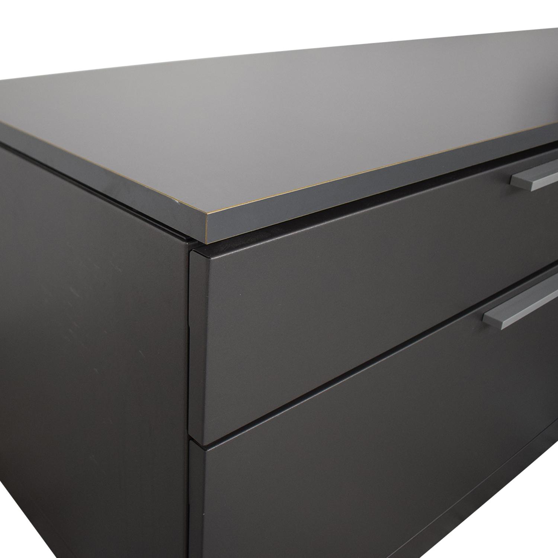 shop Herman Miller L Shaped Workdesk and Credenza Herman Miller Home Office Desks