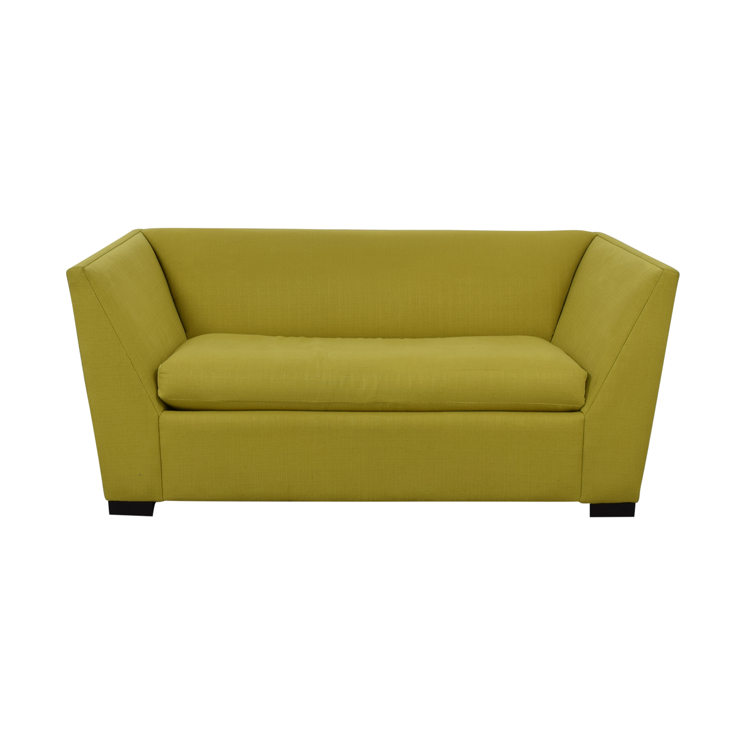 CB2 CB2 Twin Sleeper Loveseat yellow