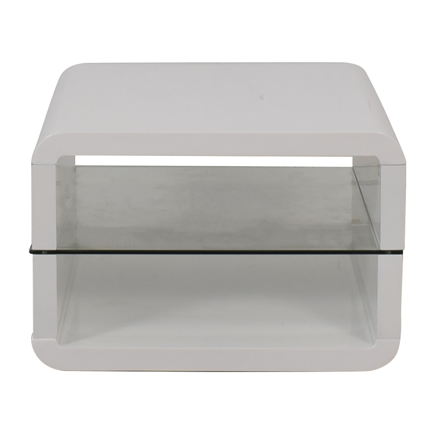 Coaster Fine Furniture Glossy White End Table / End Tables