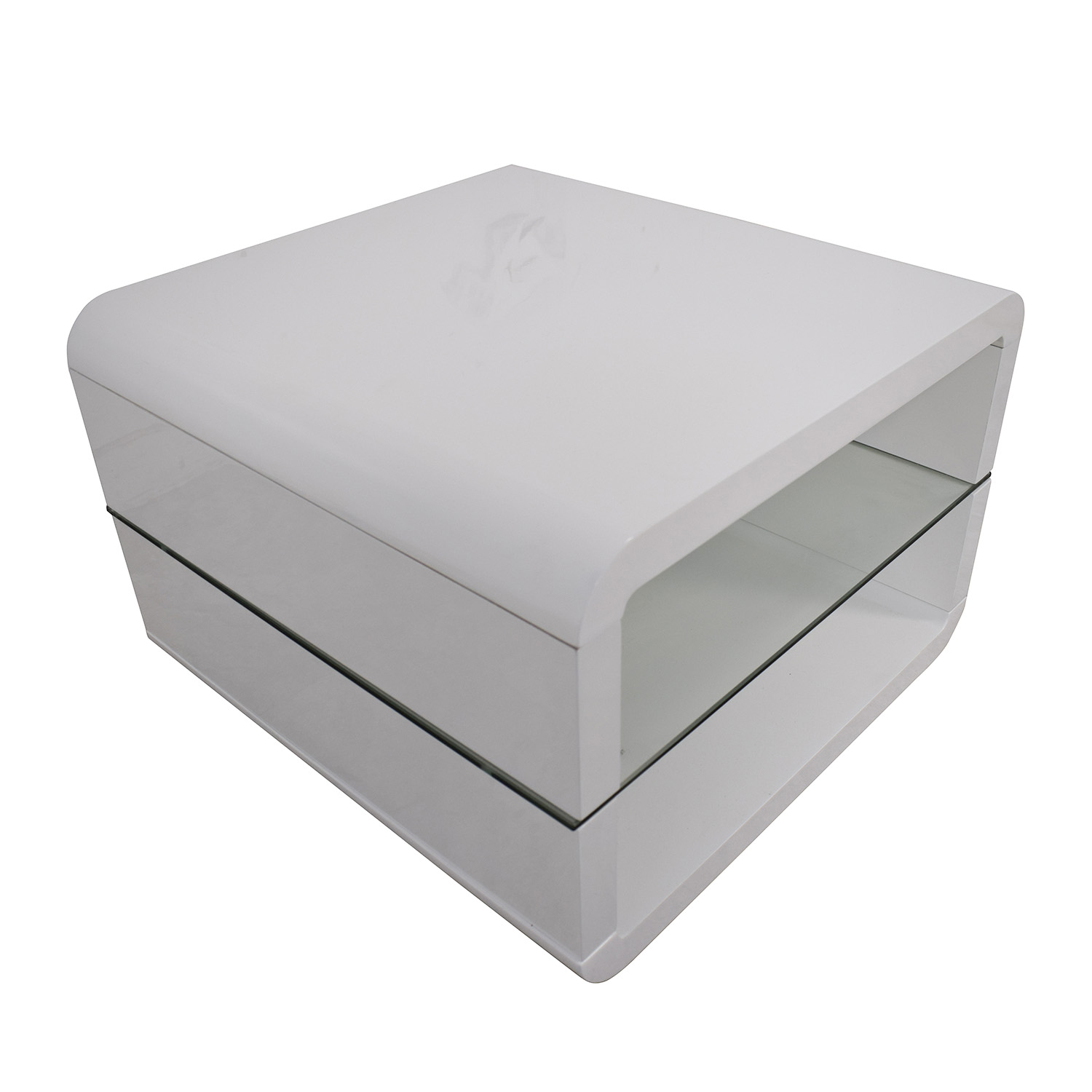 buy Coaster Fine Furniture Glossy White End Table Coaster Fine Furniture End Tables