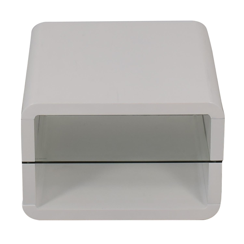 Coaster Fine Furniture Coaster Glossy White End Table dimensions