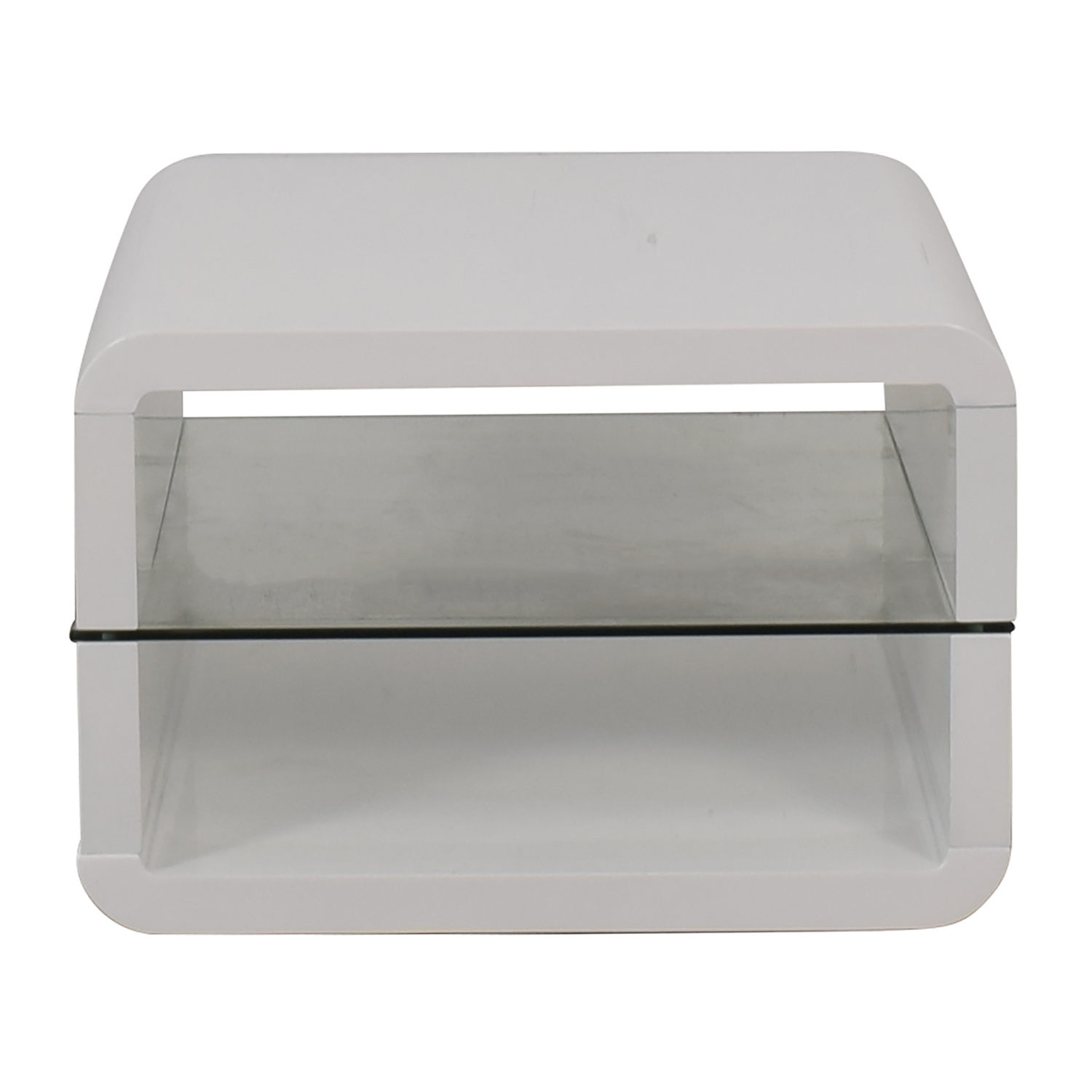 Coaster Glossy White End Table / Tables