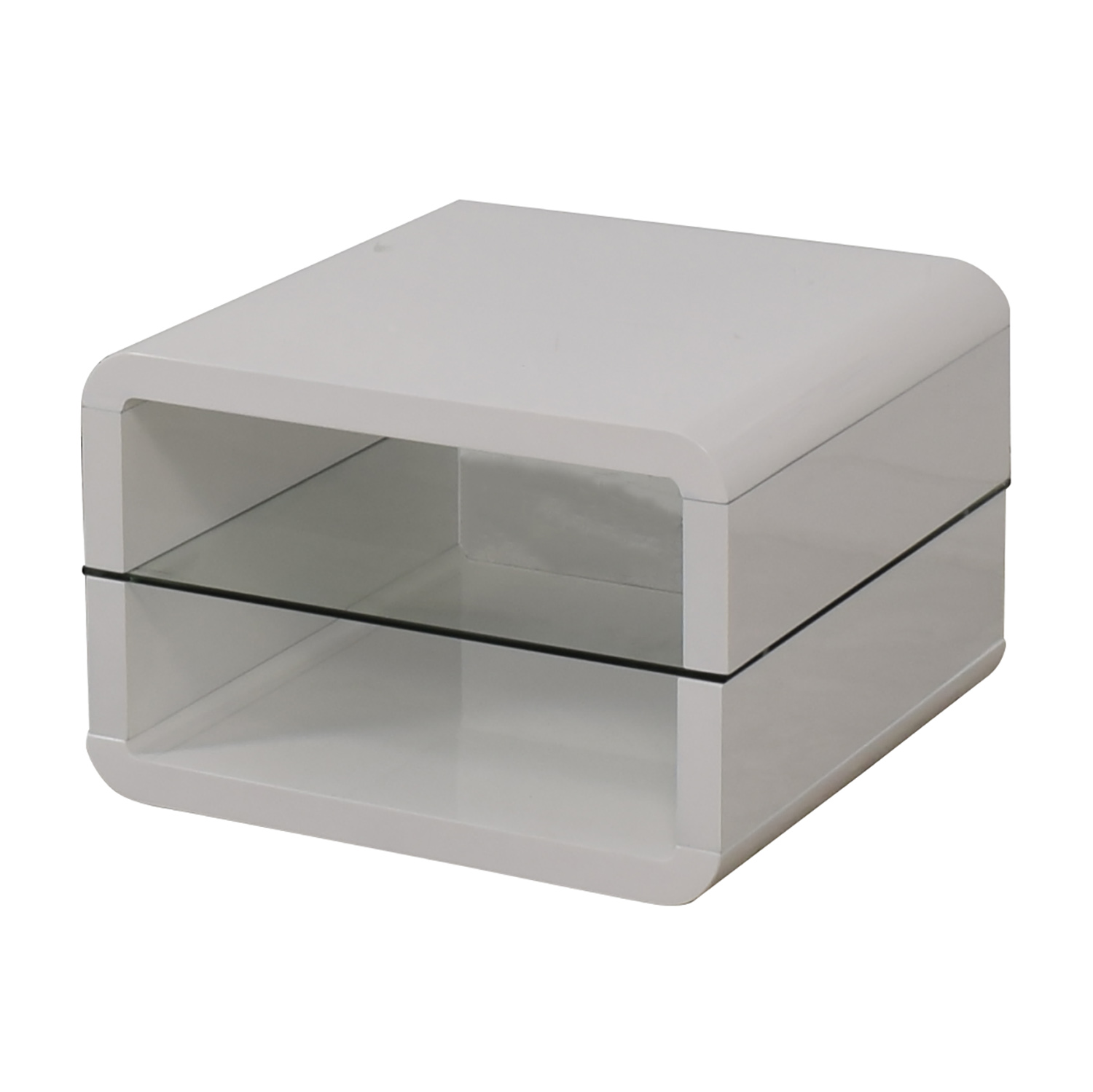 Coaster Fine Furniture Coaster Glossy White End Table End Tables
