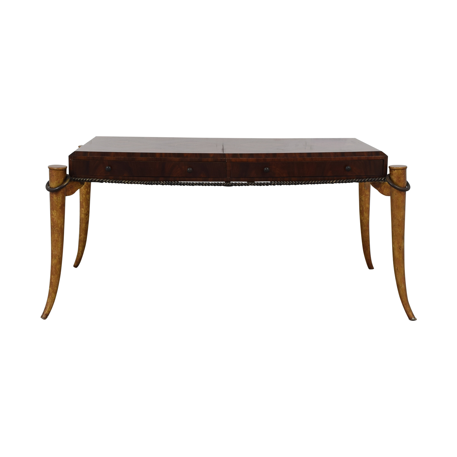 shop Maitland-Smith Rosewood Inlaid Desk Maitland-Smith Tables