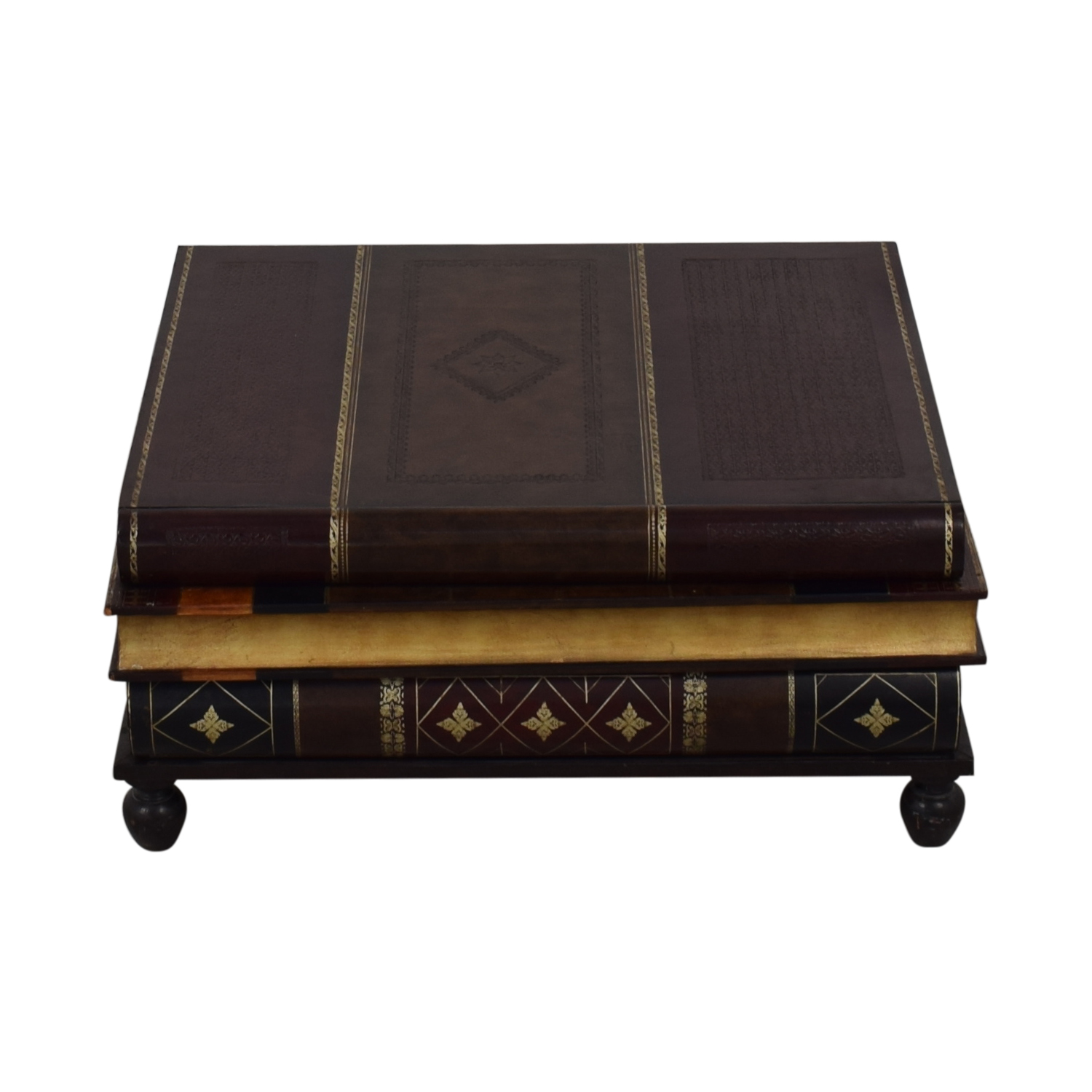 Maitland-Smith Stacked Books Style Coffee Table sale