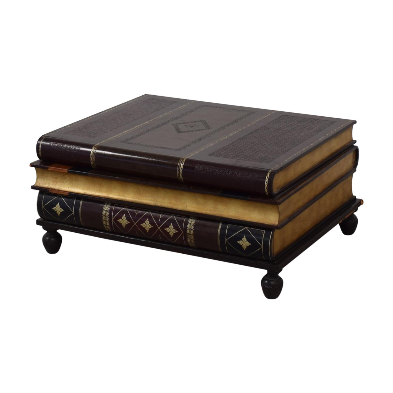 Maitland-Smith Maitland-Smith Stacked Books Style Coffee Table nj