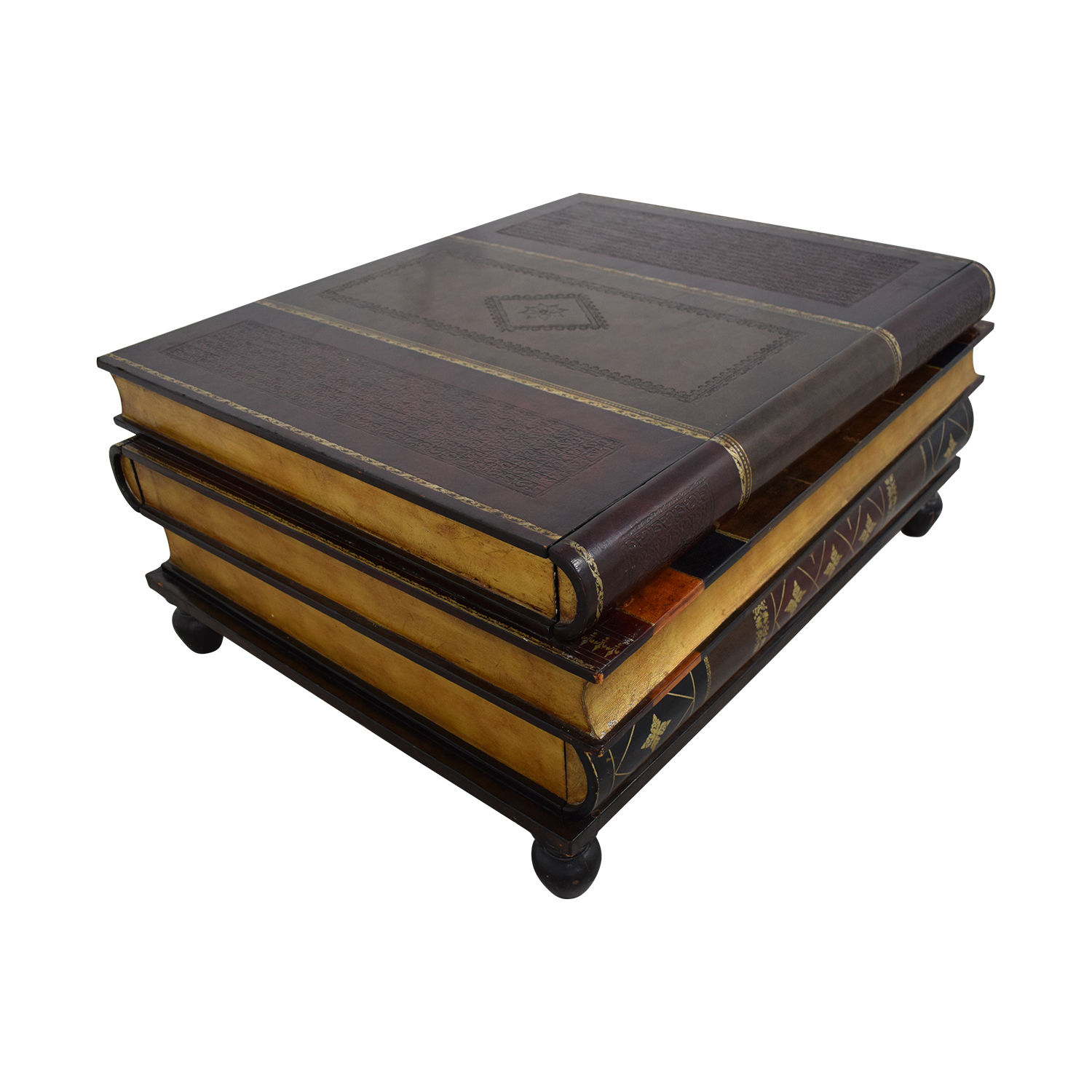 67 Off Maitland Smith Stacked Books Style Coffee Table Tables