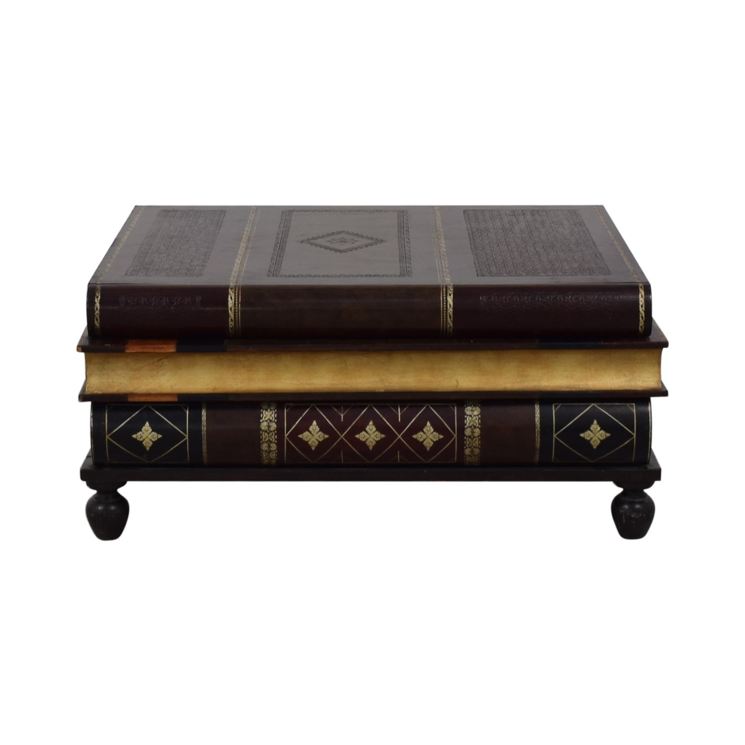67% OFF   Maitland Smith Maitland Smith Stacked Books Style Coffee Table /  Tables