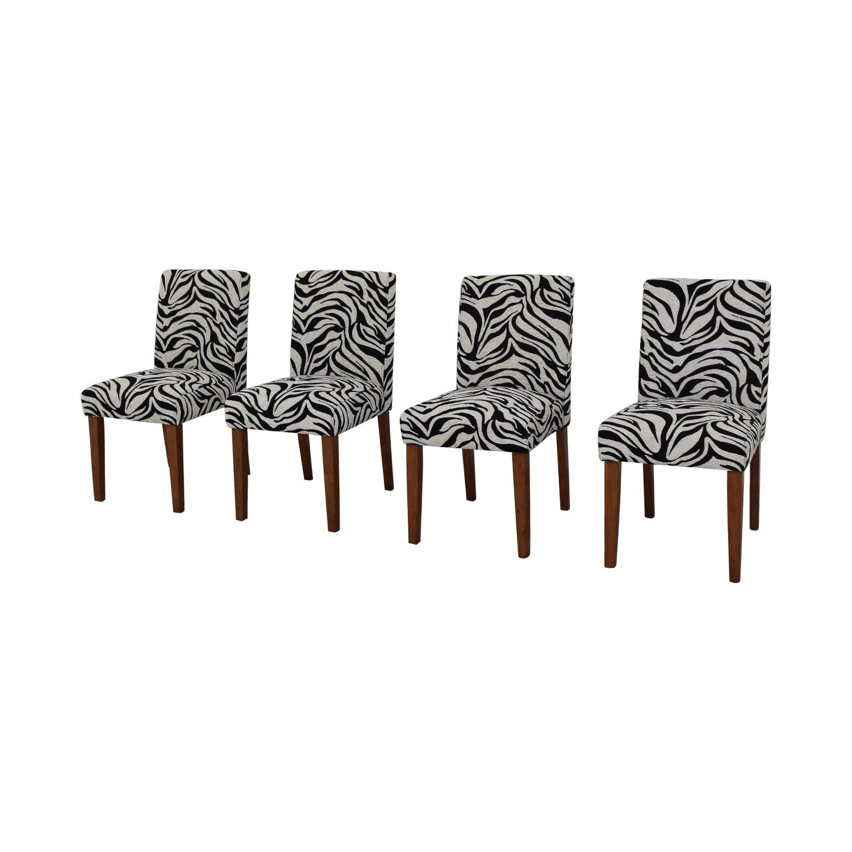 buy  Zebra Pattern Parsons Chairs online