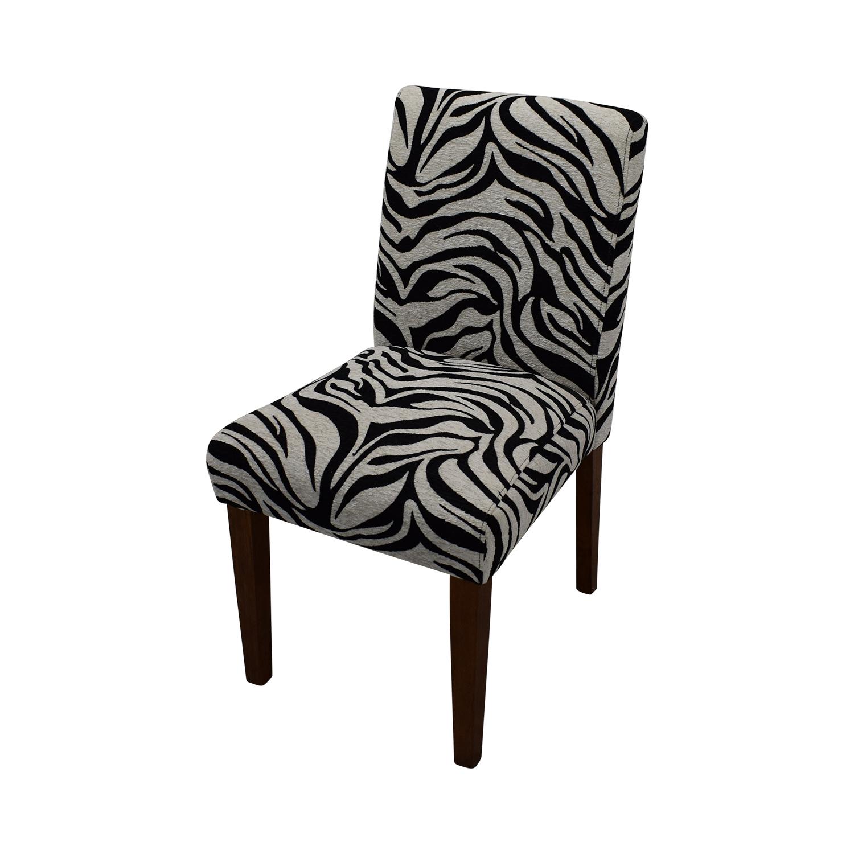 Zebra Pattern Parsons Chairs zebra