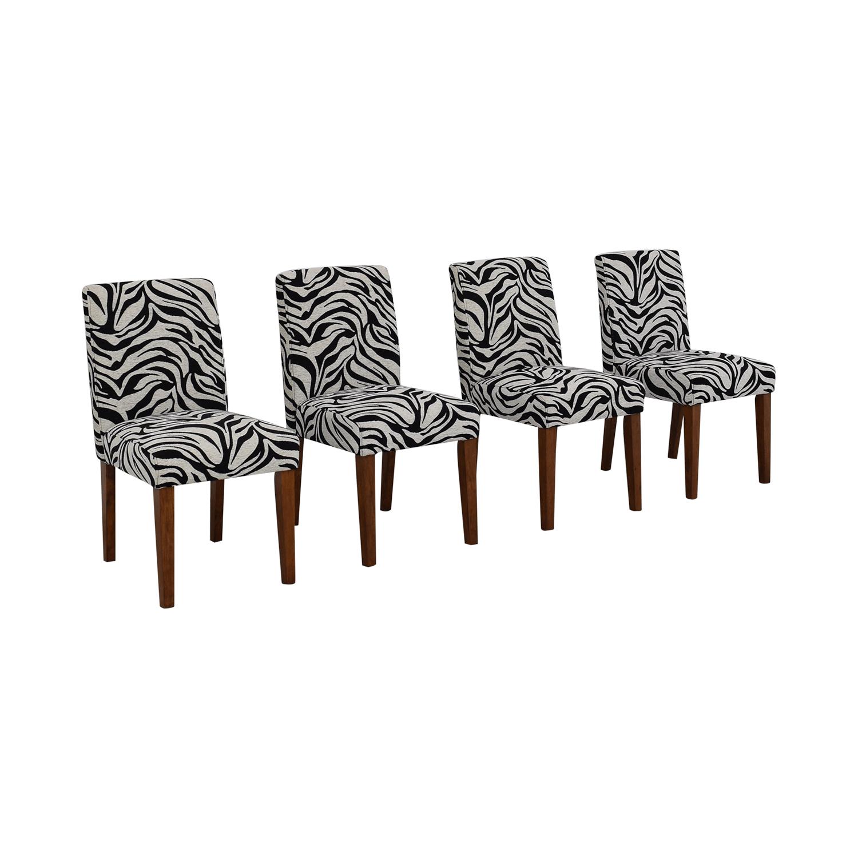 Zebra Pattern Parsons Chairs discount