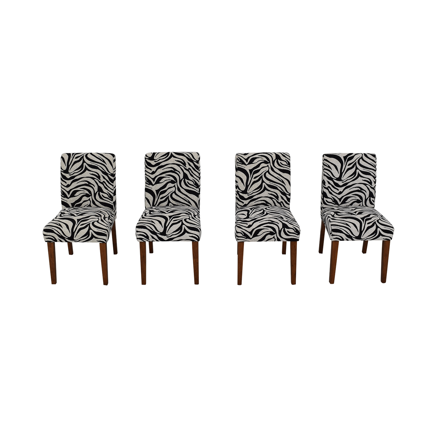 shop Zebra Pattern Parsons Chairs  Dining Chairs