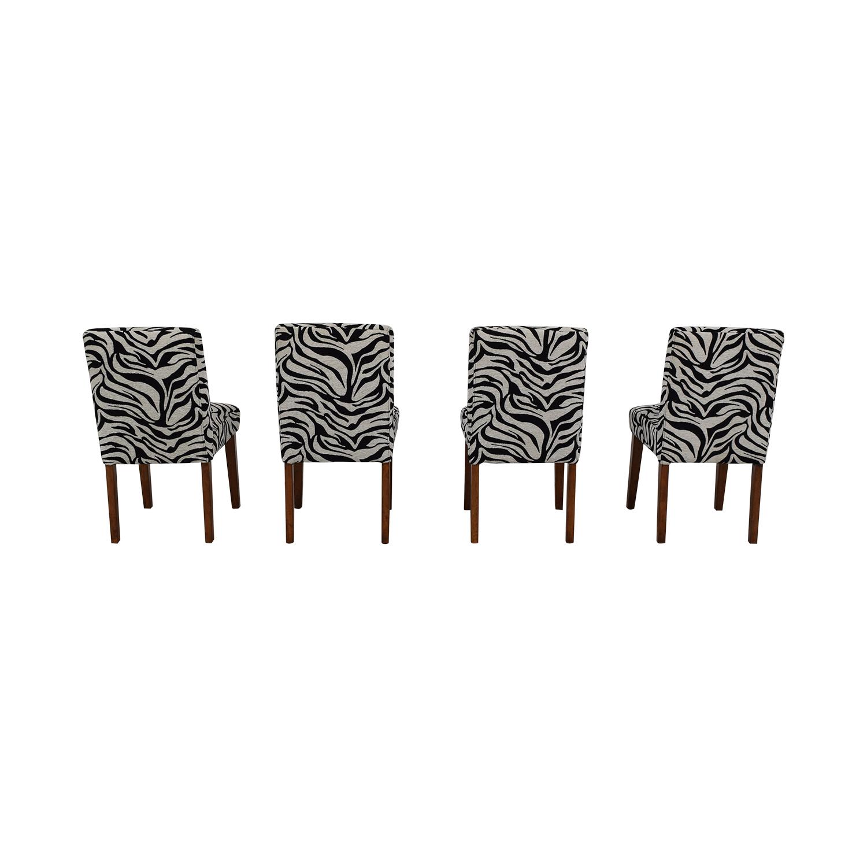 Zebra Pattern Parsons Chairs on sale