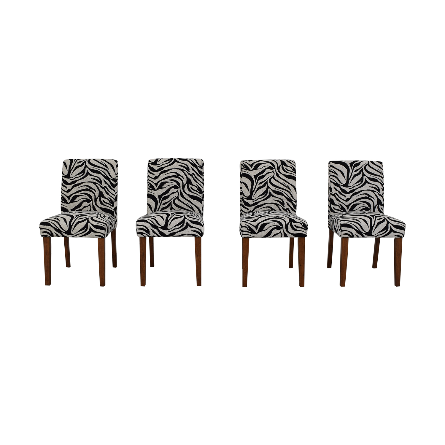 buy Zebra Pattern Parsons Chairs  Dining Chairs