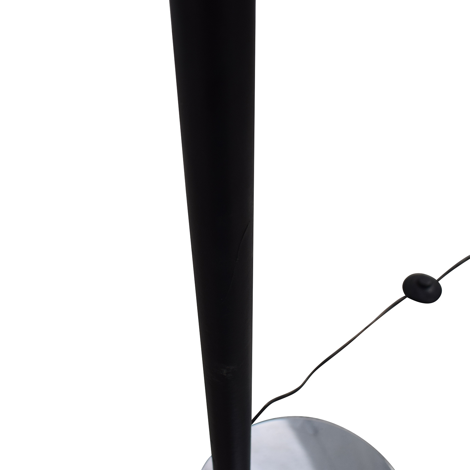 Standing Floor Lamp with Two Section Shade