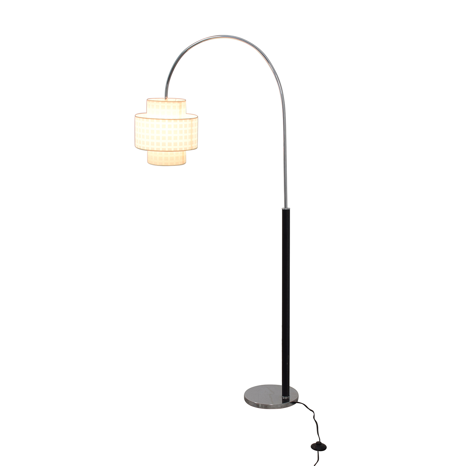 Standing Floor Lamp with Two Section Shade second hand