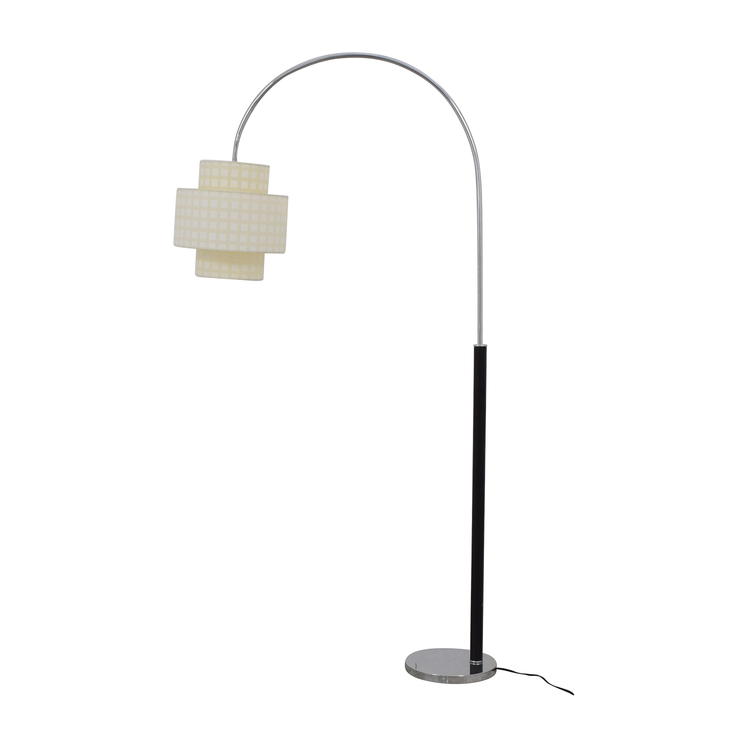 Standing Floor Lamp with Two Section Shade dimensions