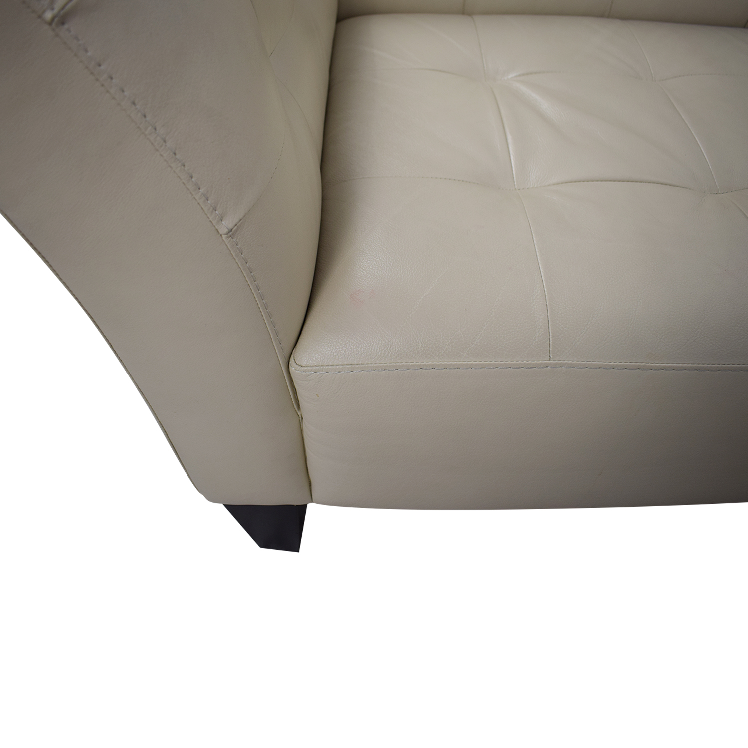 Chateau d'Ax Chateau d'Ax White Faux Leather Sectional Sofa for sale