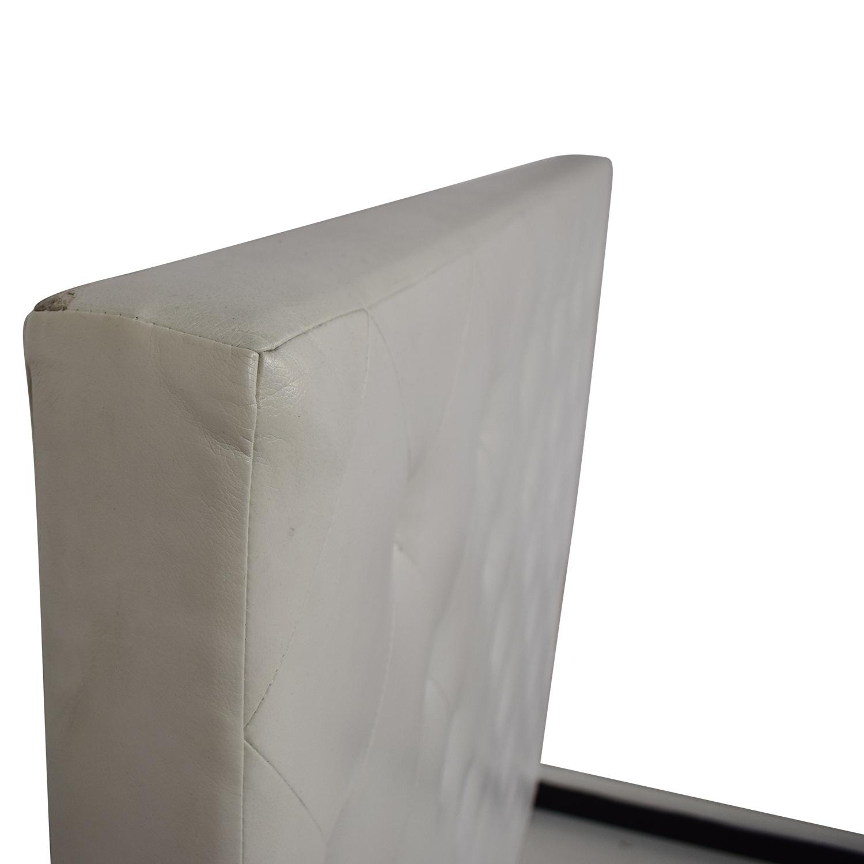 Modani Modani White Eco Leather Queen Bed nyc