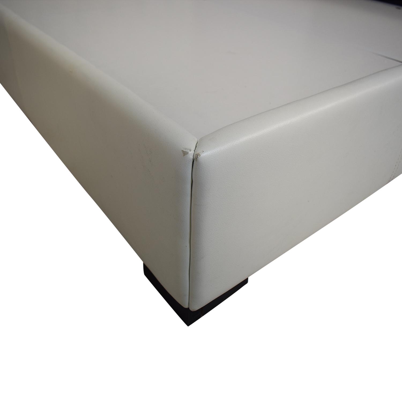 Modani Modani White Eco Leather Queen Bed on sale