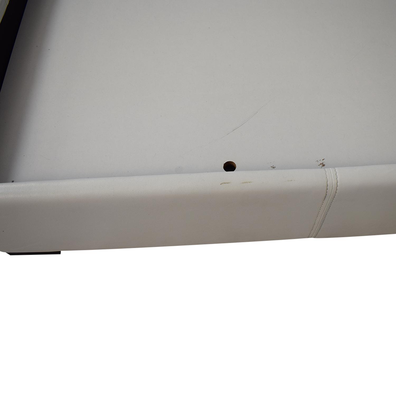 Modani Modani White Eco Leather Queen Bed coupon